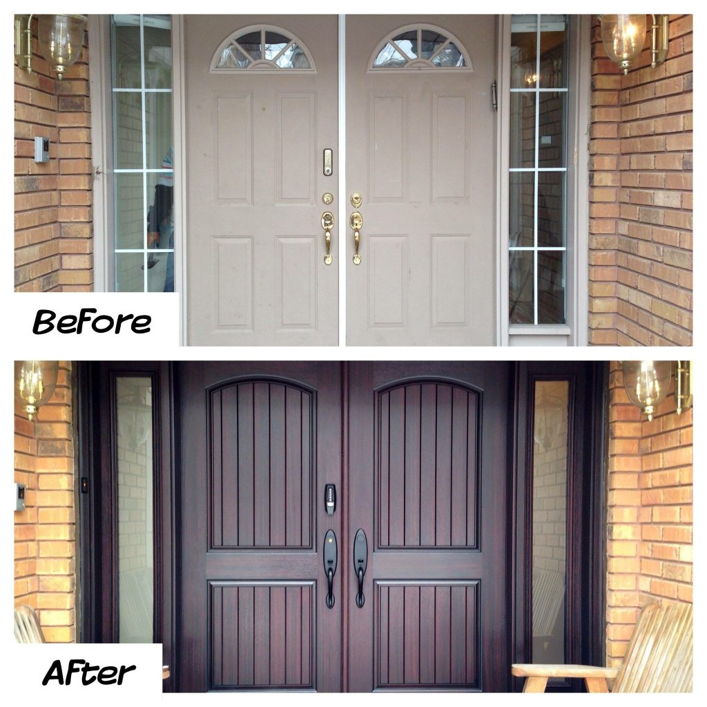 1024 #996D32 WIDER FIBERGLASS DOOR WITH SIDELITES save image Fiberglass Entry Doors With Sidelites 42671024